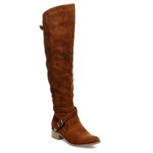 Merona Over the knee Suede Cognac Tarin Boot 7.5